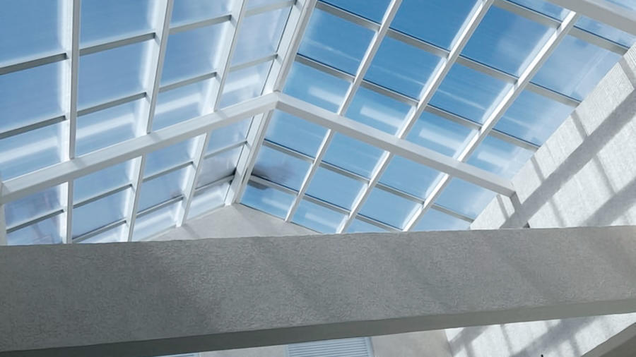 Glass roofing